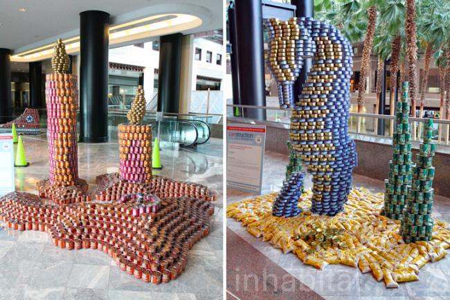 Скульптуры из консервных банок