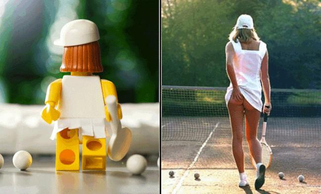 Известные фотографии в Лего