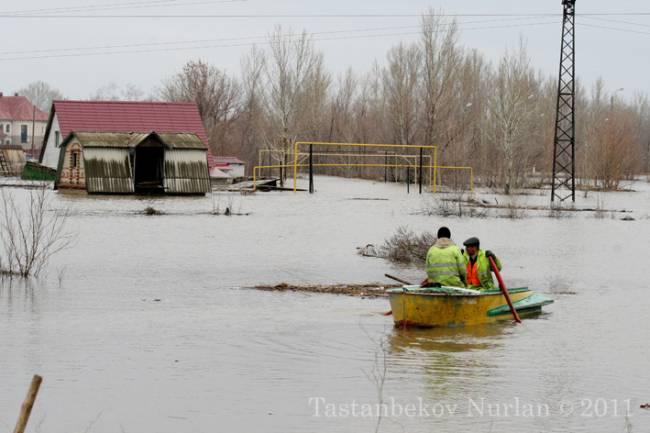 Наводнение в Уральске