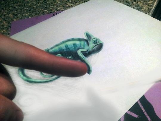 3D рисунки карандашом