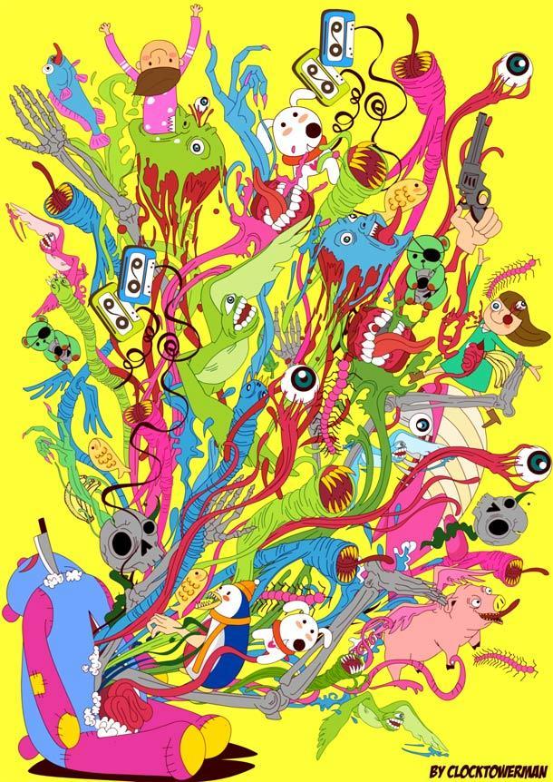 Милые рисунки от Clocktowerman