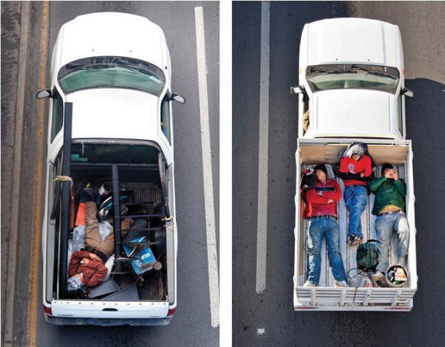Мексиканские пассажиры пикапов