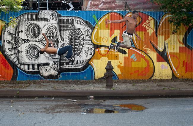 Паркур в Бронксе