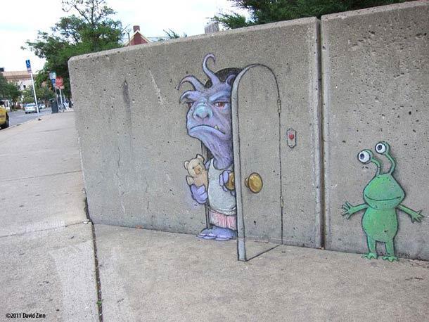 Прикольный стрит-арт
