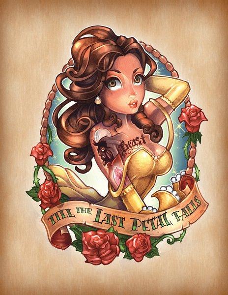 Винтажные тату с героинями сказок